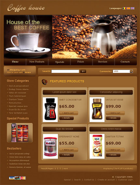 thiet ke web website coffee 01