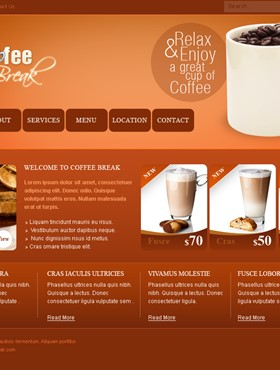 thiet ke web Website Coffee 02