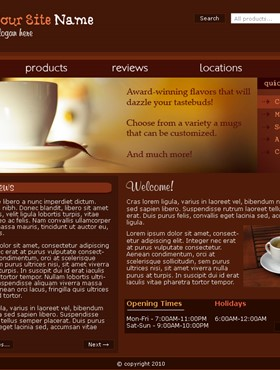 thiet ke web Website Coffee 03